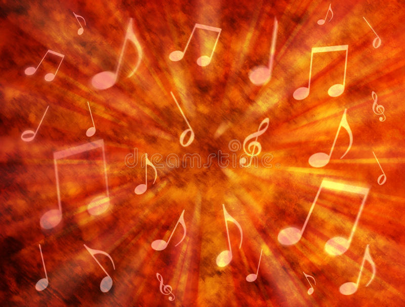 Abstract Music Background. An abstract warm background with music notes
