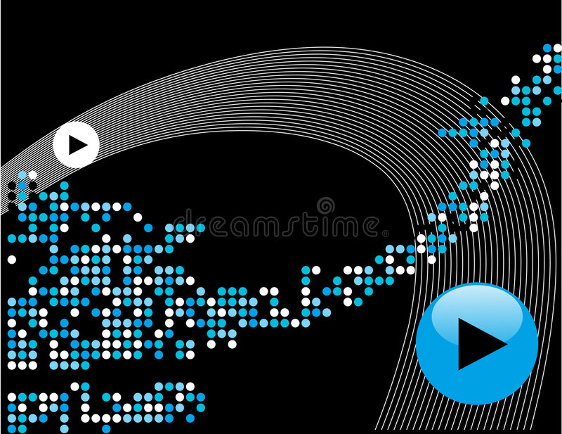 Abstract music background royalty free illustration