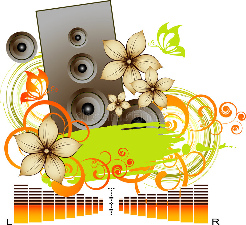 Abstract music background stock illustration