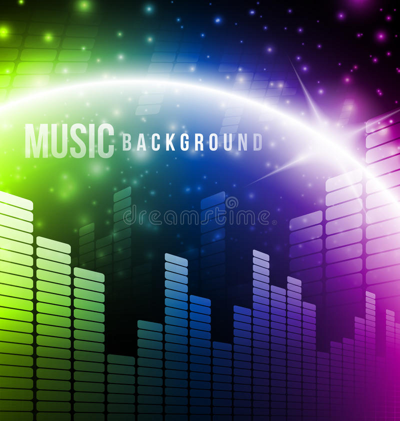 Download Abstract music background stock vector. Image of display - 29781079
