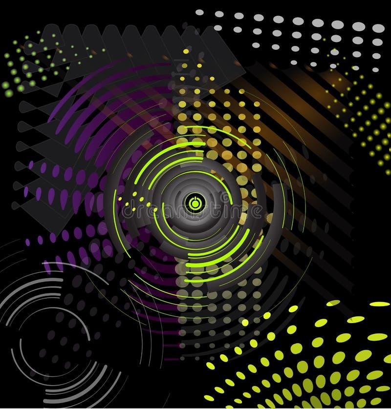 Abstract Music Background Stock Illustration. Illustration