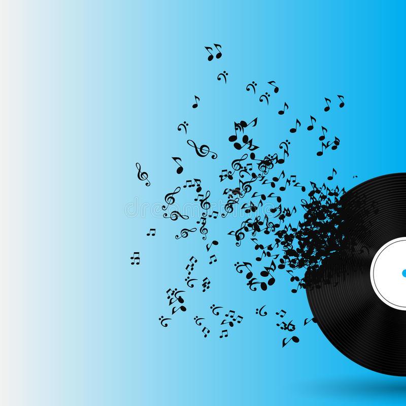 Abstract music background vector illustration for royalty free illustration