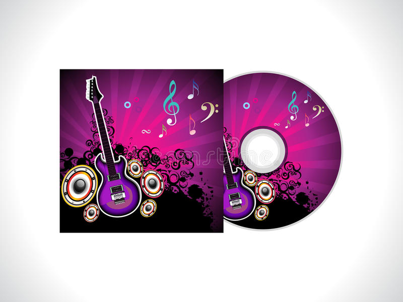 Abstract music cd template. Vector illustration royalty free illustration