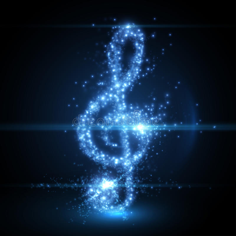 Abstract music clef background. Vector illustration. royalty free illustration