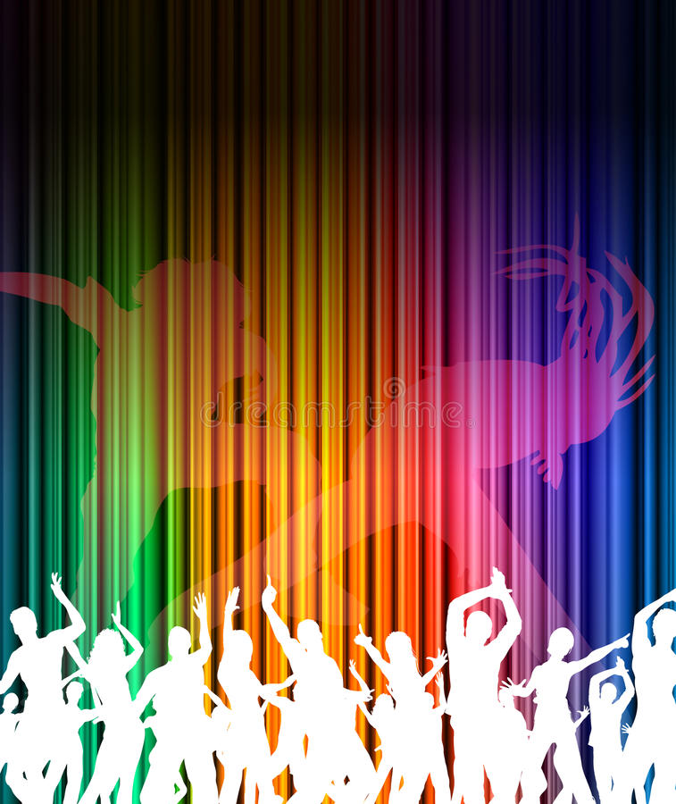Abstract music dance background stock illustration