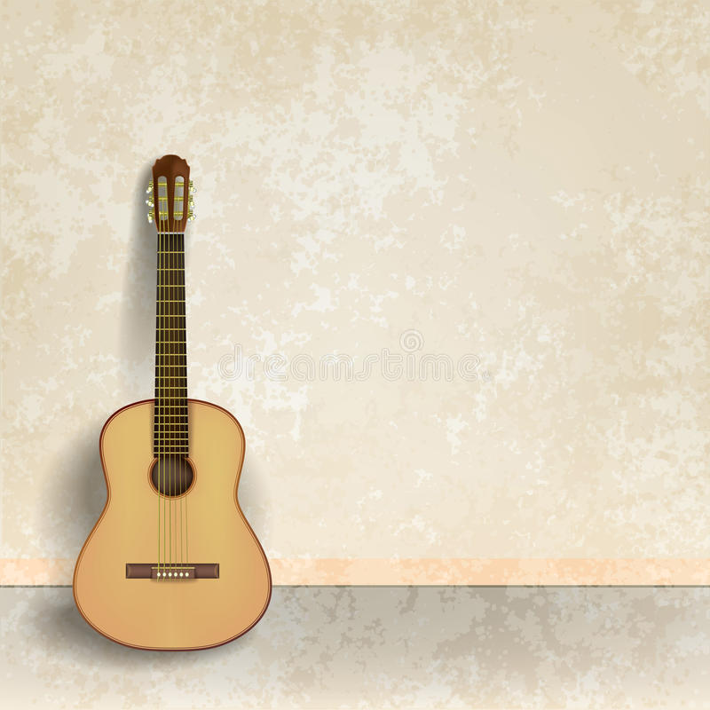 Guitar Wallpaper And: Abstract Music Grunge Background With Guitar Stock Vector