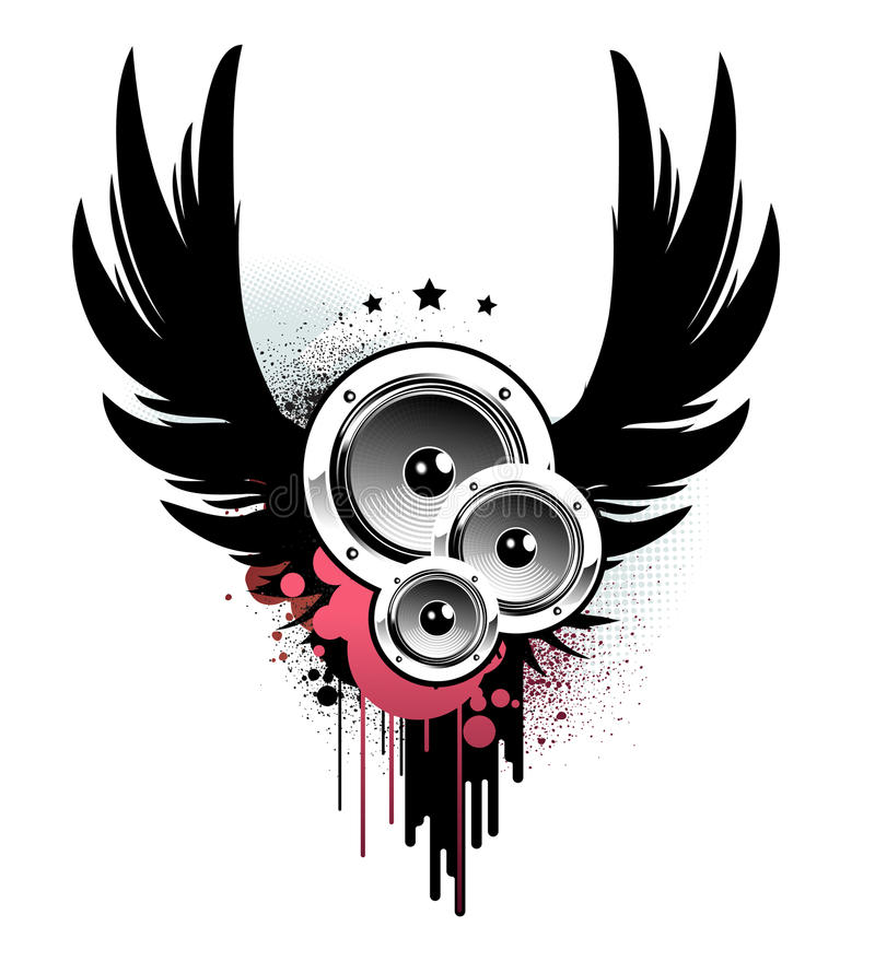 Abstract music insignia royalty free illustration