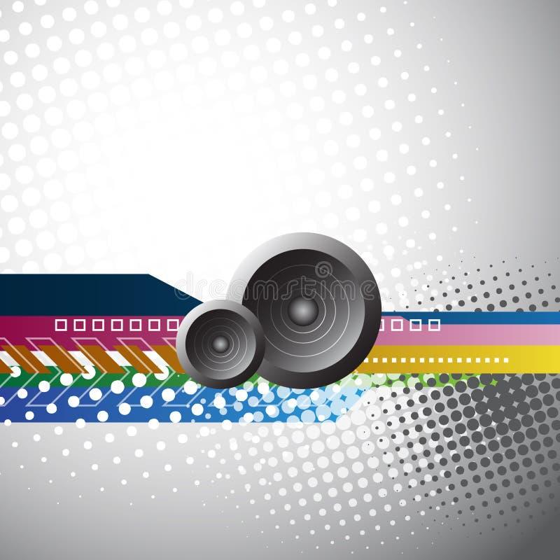 Abstract music speakers design stock illustration