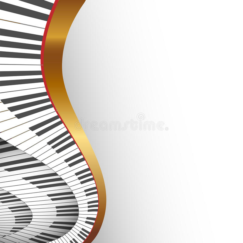 Abstract musical background stock illustration