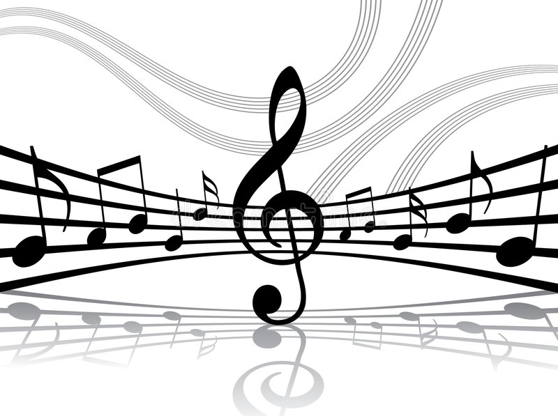 Abstract musical background royalty free illustration