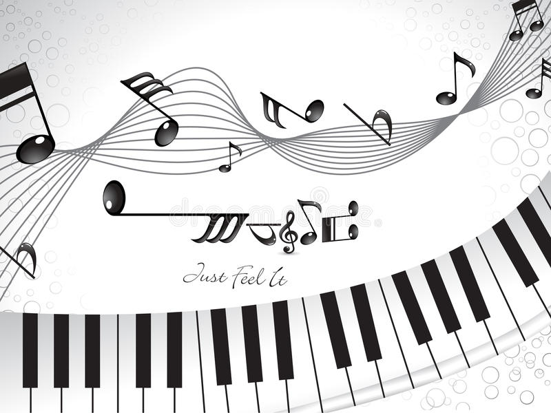 Abstract musical background with piano royalty free illustration