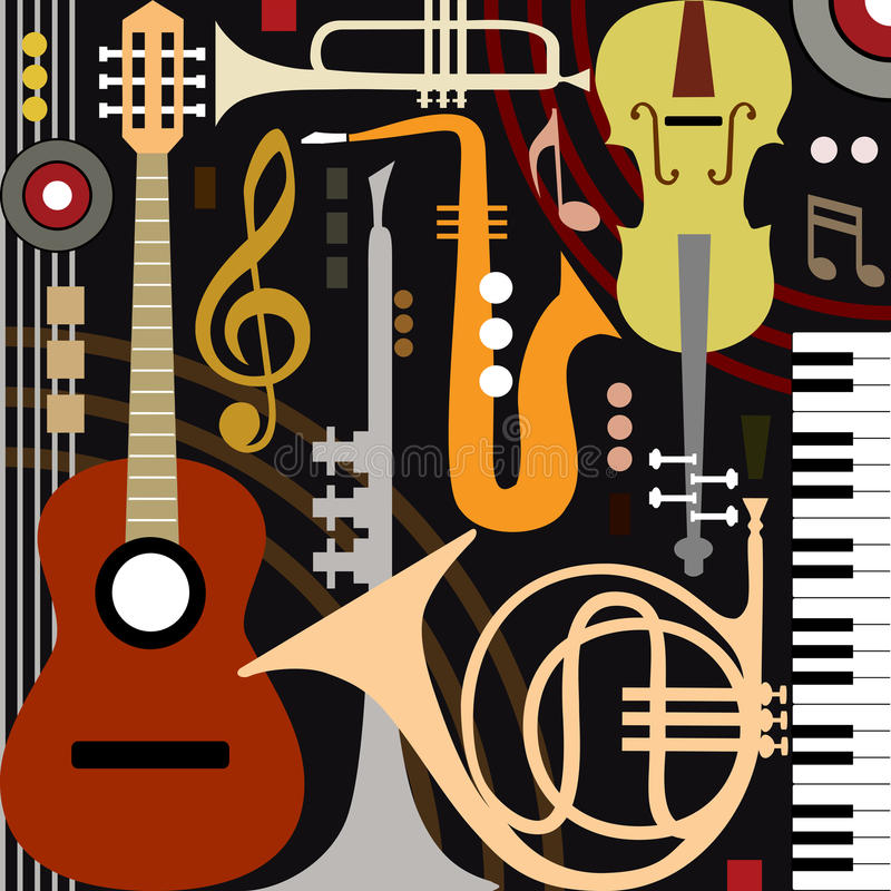 Free Abstract Musical Instruments Royalty Free Stock Images - 24736539