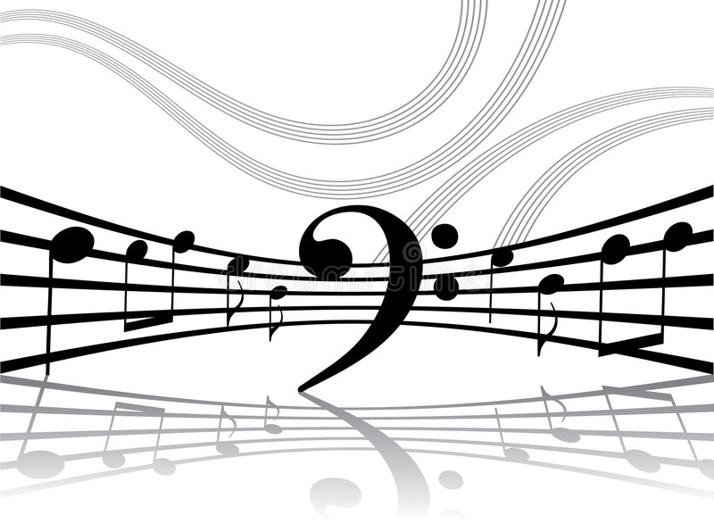 Download Abstract Musical Lines With Notes Stock Vector - Image: 5028318
