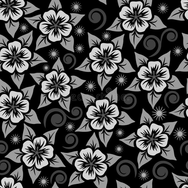 Abstract naadloos bloem sierpatroon royalty-vrije illustratie