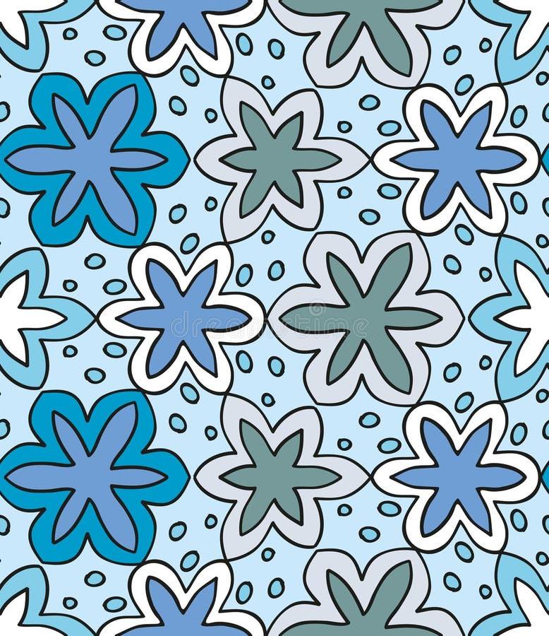 Abstract naadloos de winterpatroon vector illustratie