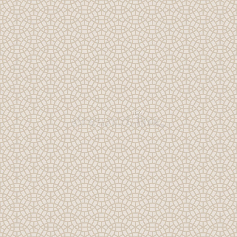 Abstract Naadloos Decoratief Geometrisch Licht Gouden & Beige Patroon stock illustratie