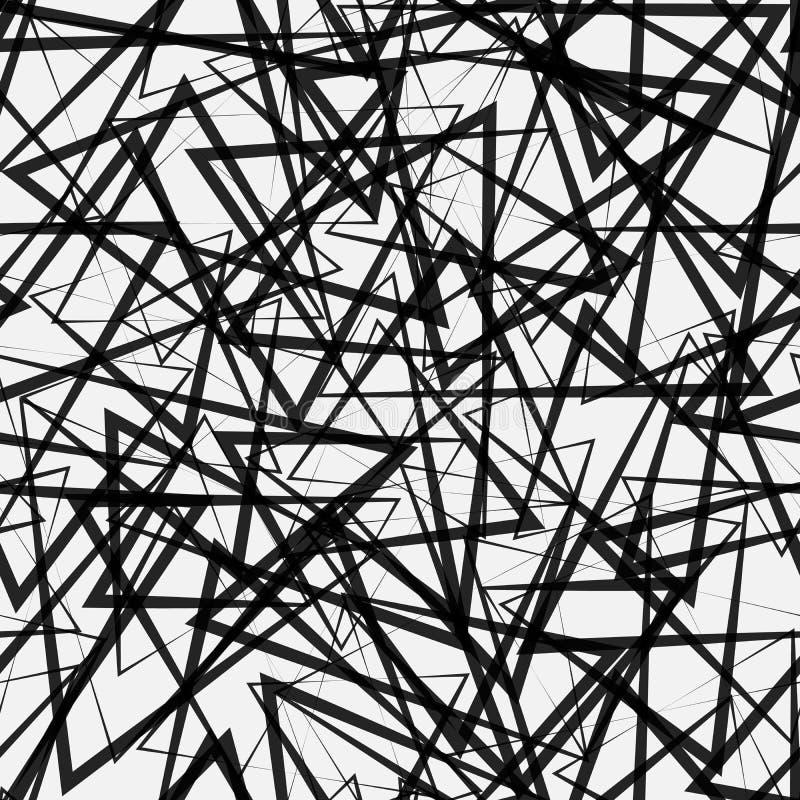 Abstract Naadloos driehoekenpatroon Lichte en donkere lineaire patroonachtergrond vector illustratie