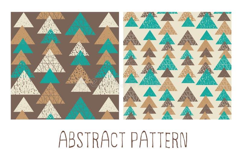 Abstract Naadloos Geometrisch Patroon stock foto