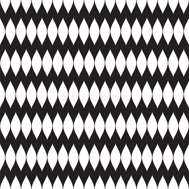 Abstract naadloos geometrisch patroon - Gericht Netwerk stock illustratie