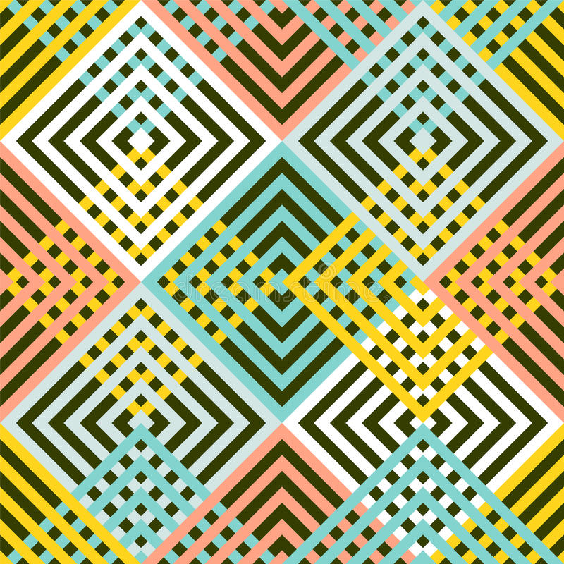 Abstract naadloos geometrisch patroon - ruit royalty-vrije illustratie