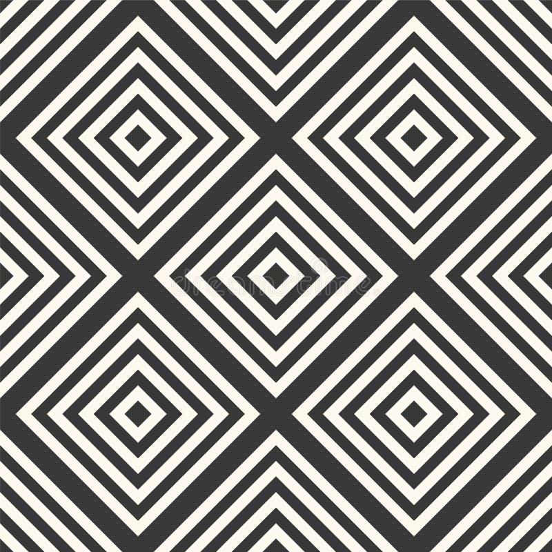 Abstract naadloos geometrisch patroon - ruit royalty-vrije illustratie