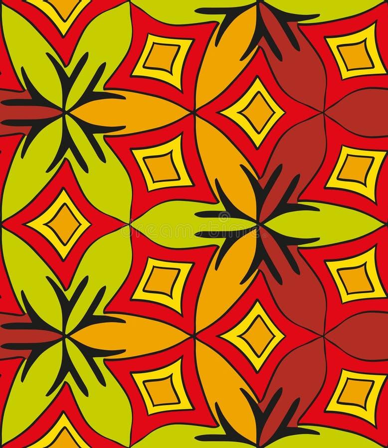 Abstract naadloos multicolored patroon 2 stock illustratie