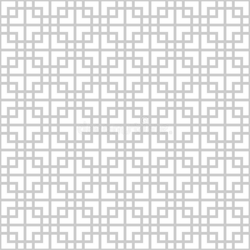 Abstract naadloos patroon in Aziatische stijl stock illustratie