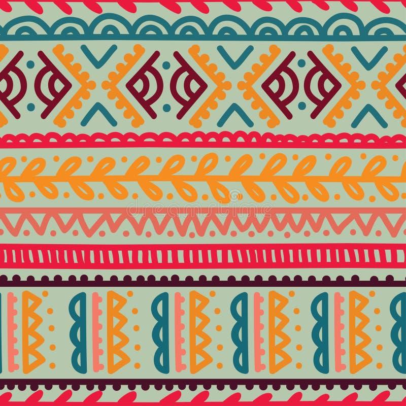 Abstract naadloos patroon in bohostijl stock illustratie