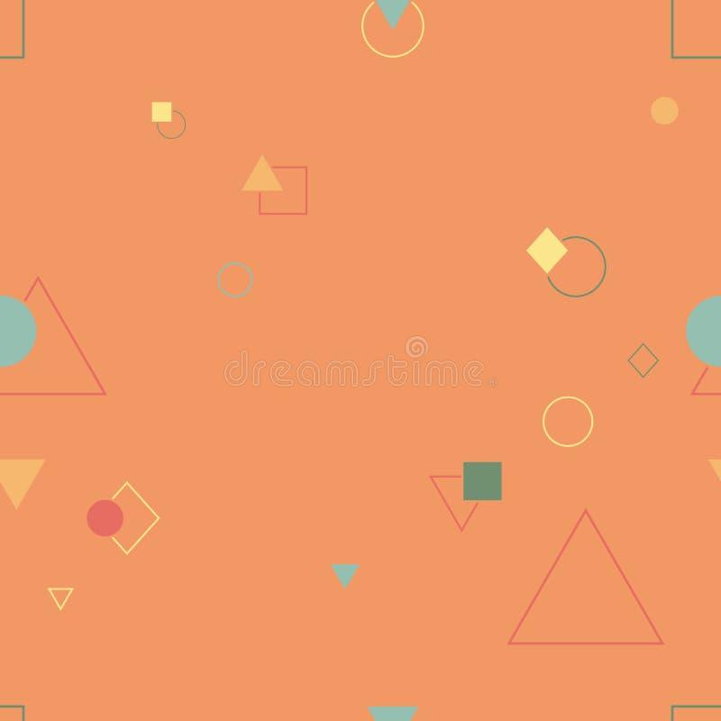 Abstract naadloos patroon in de stijl van Memphis Kleurrijke geometrische D royalty-vrije stock foto