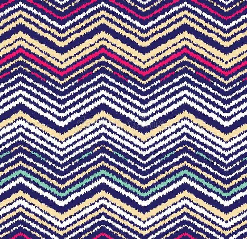 Abstract naadloos patroon in etnische stijl Warme stof royalty-vrije illustratie