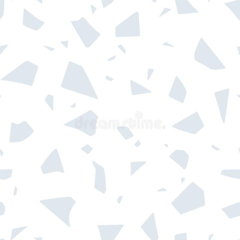Abstract naadloos patroon, het effect van de Terrazzobevloering De vectordocument besnoeiing handcrafted pastelkleurtextuur vector illustratie