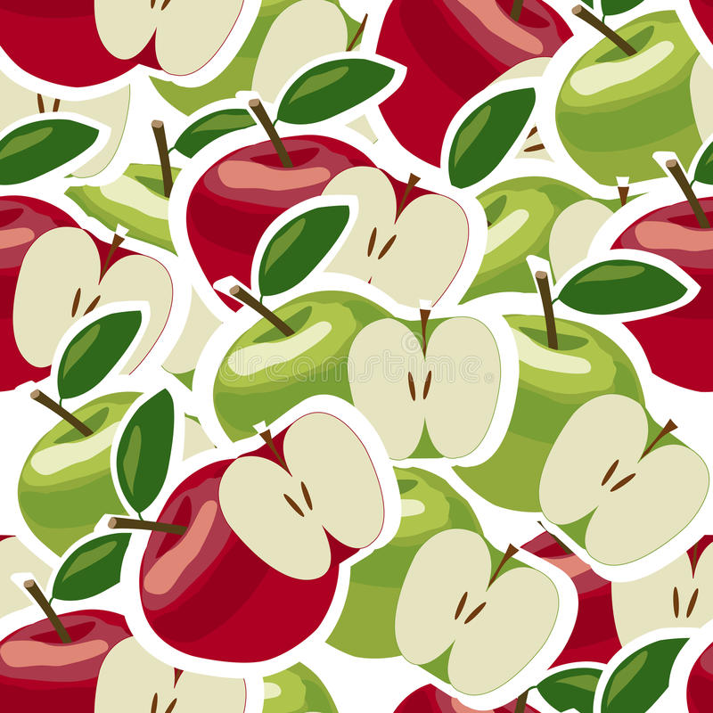 Abstract naadloos patroon met appelen vector illustratie
