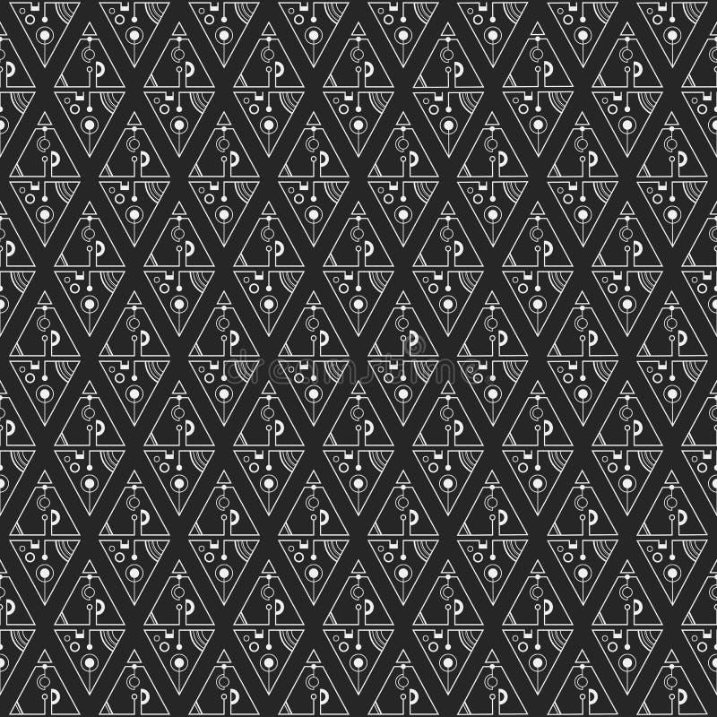Abstract naadloos patroon met driehoeken vector illustratie