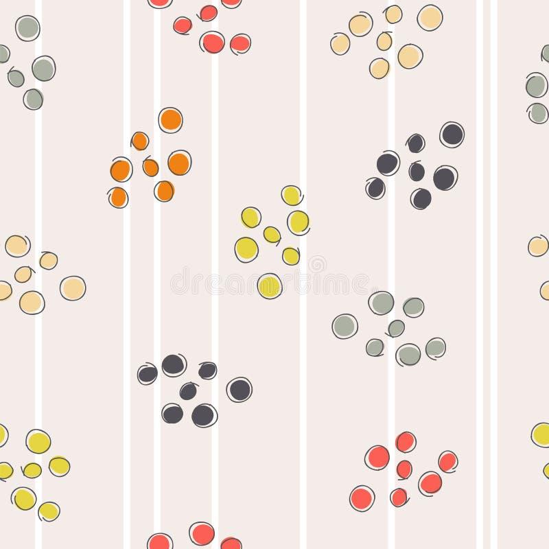 Abstract naadloos patroon met gekleurde cirkels vector illustratie