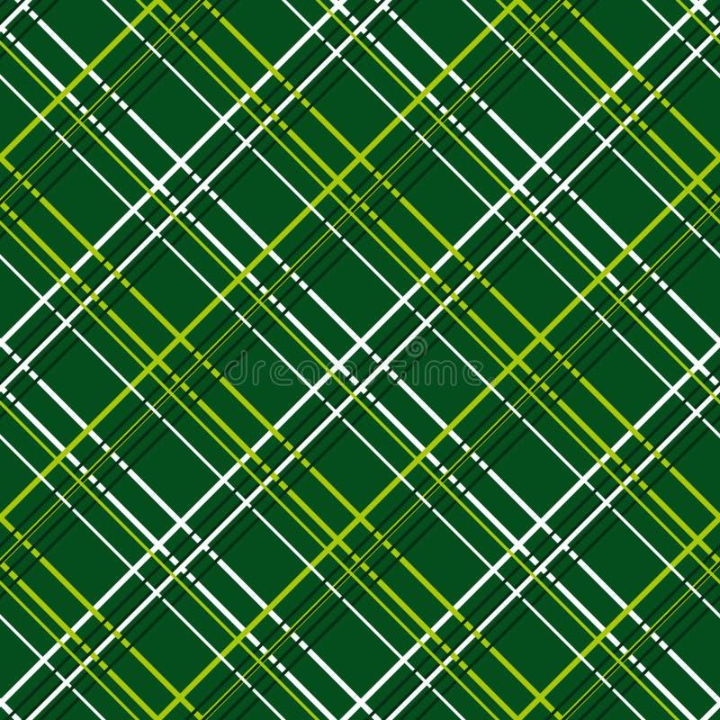 Abstract Naadloos Patroon met Plaidstof op een donkergroene achtergrond royalty-vrije illustratie