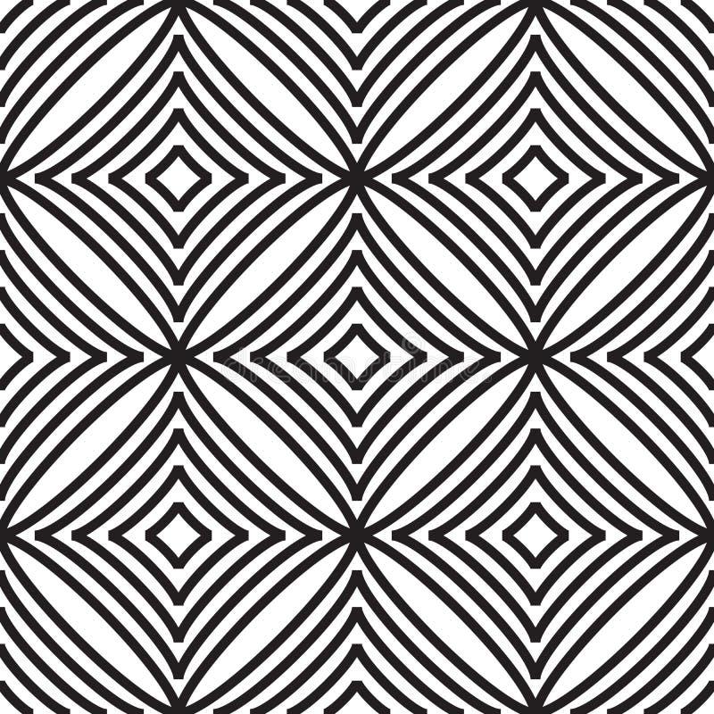Abstract naadloos patroon met ruit royalty-vrije illustratie