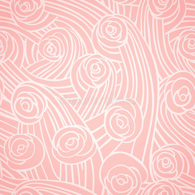 Abstract naadloos patroon met uitstekende rozen stock illustratie