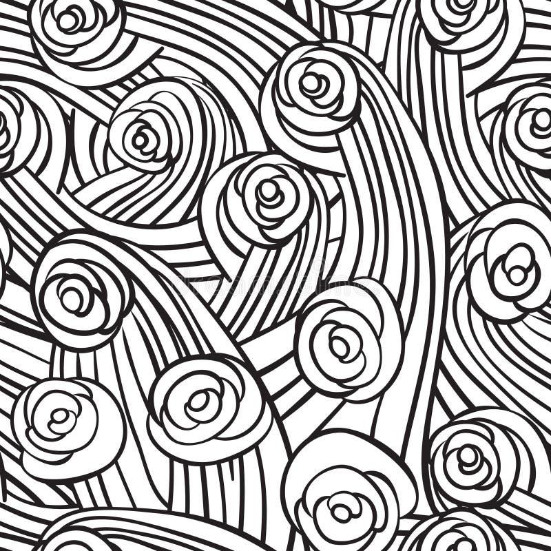 Abstract naadloos patroon met uitstekende rozen, vectorillustratio royalty-vrije illustratie