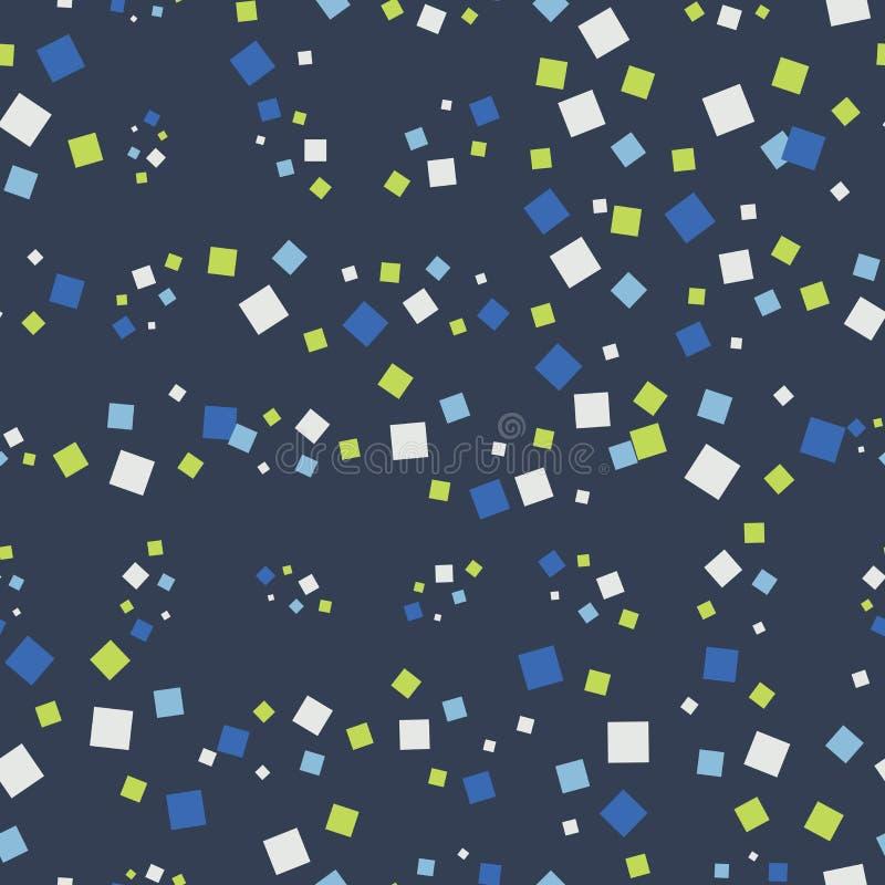Abstract naadloos patroon met vierkanten royalty-vrije illustratie