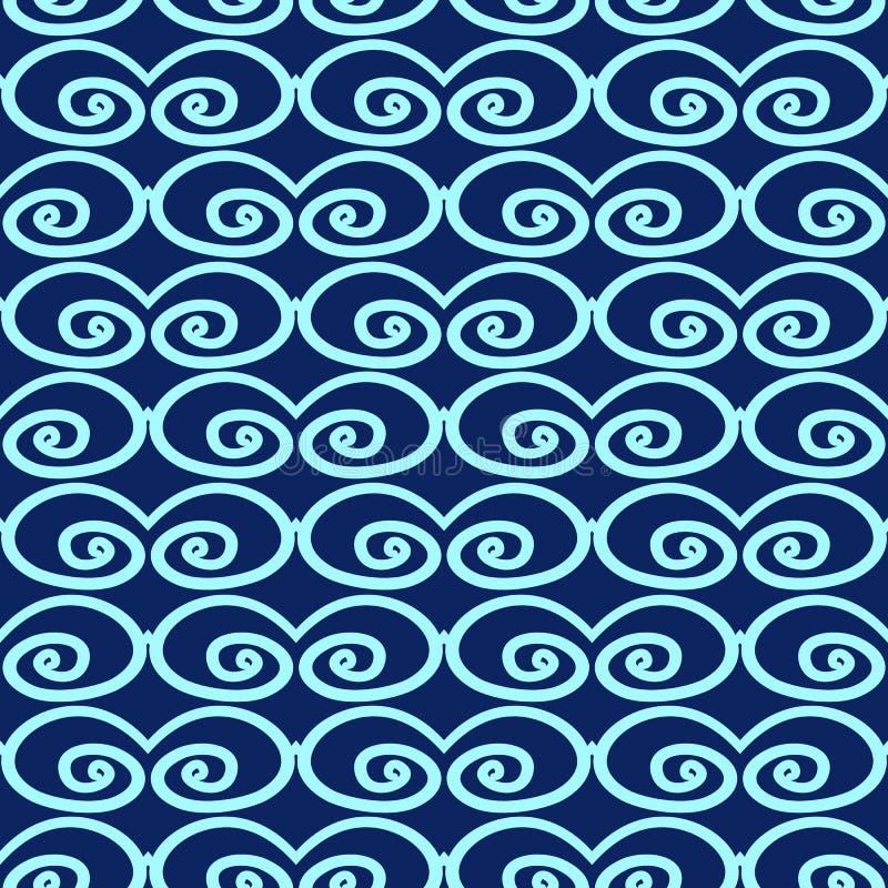 Abstract naadloos patroon met wervelingen royalty-vrije illustratie