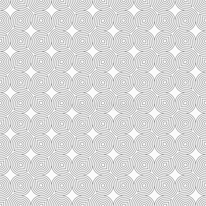 Abstract Naadloos Patroon Moderne modieuze textuur met regelmatig het herhalen van geometrische vormen, vlotte lijnen royalty-vrije illustratie