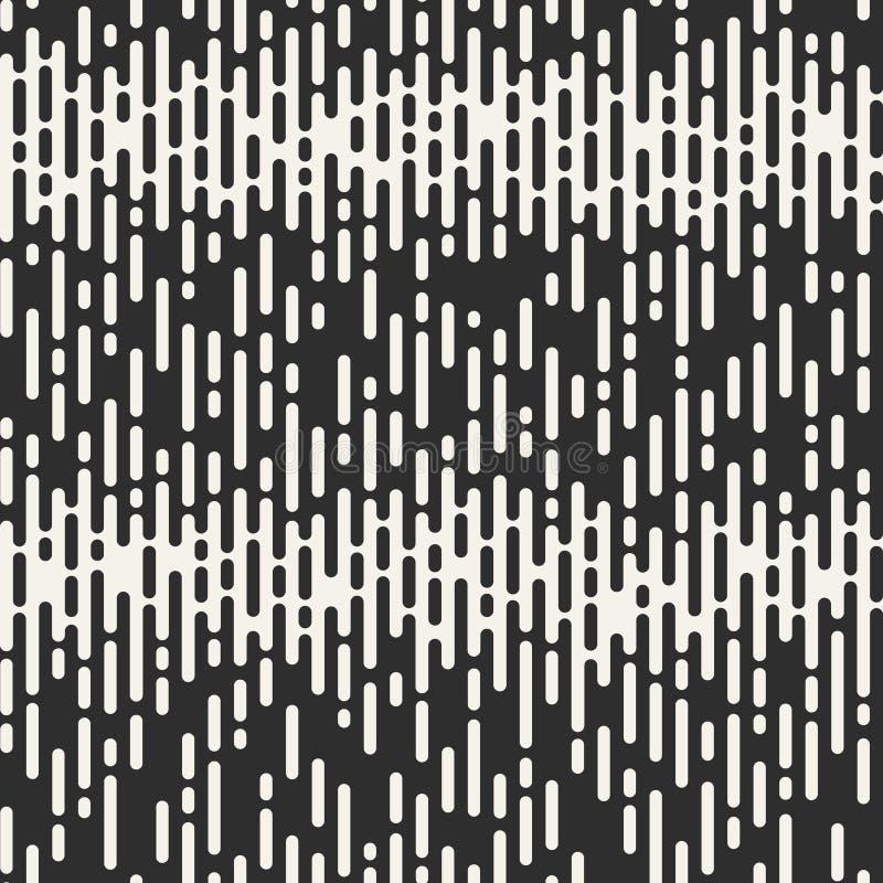 Abstract Naadloos Patroon Onregelmatige Rond gemaakte Lijnen vector illustratie