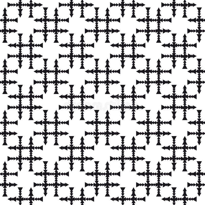 Abstract Naadloos Patroon Snijdende pijlen vector illustratie