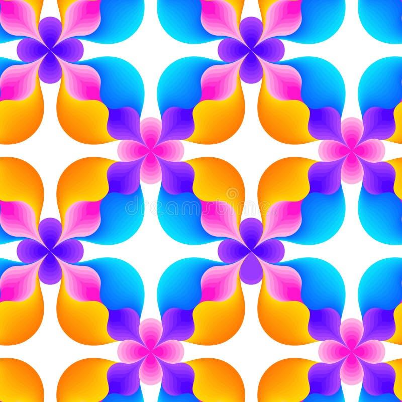 Abstract naadloos patroon van golvende lijnen Rond gemaakte geometrische vormen vector illustratie