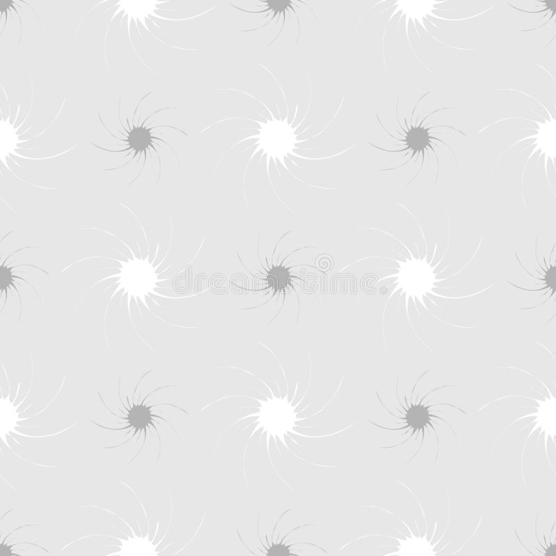 Abstract naadloos patroon van grijze sterren in de vorm van een trechter op een grijze achtergrond royalty-vrije illustratie