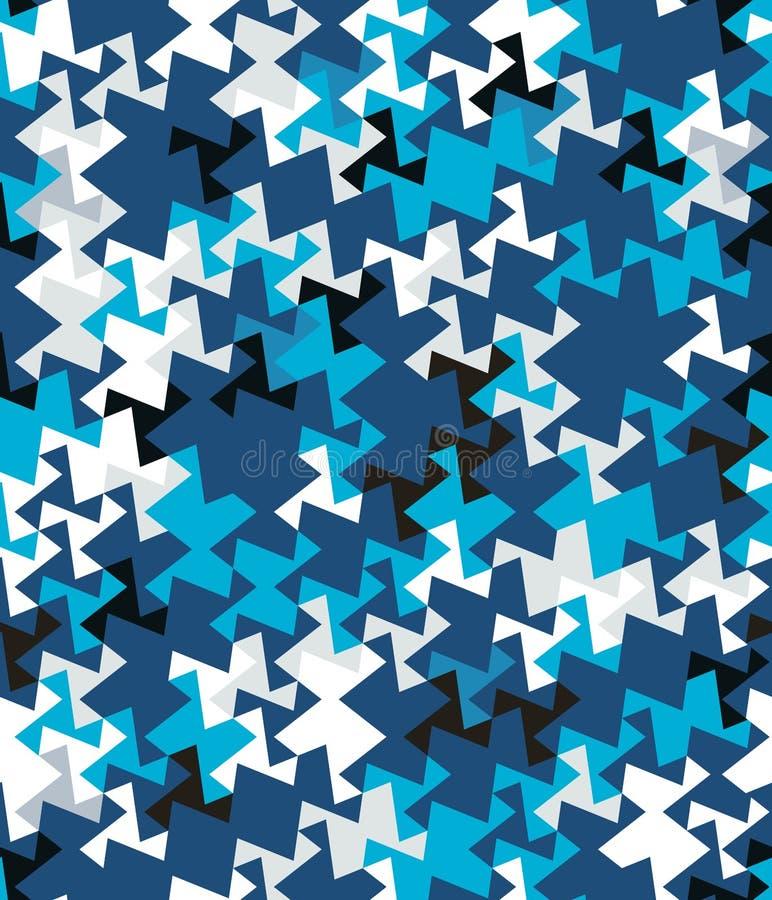 Abstract naadloos patroon van hoeken en driehoeken Optische illusie van beweging Helder de jeugdpatroon stock illustratie