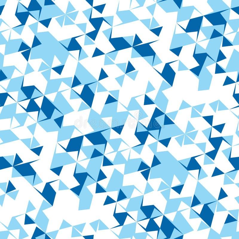 Abstract naadloos patroon van hoeken en driehoeken Optische illusie van beweging Helder de jeugdpatroon vector illustratie