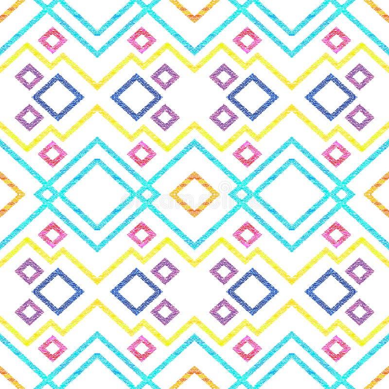 Abstract naadloos patroon van zigzag en lijnen stock illustratie