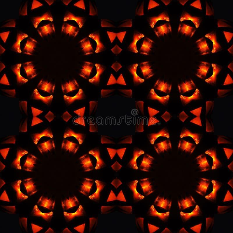 Abstract naadloos patroon, vurige sterren vector illustratie