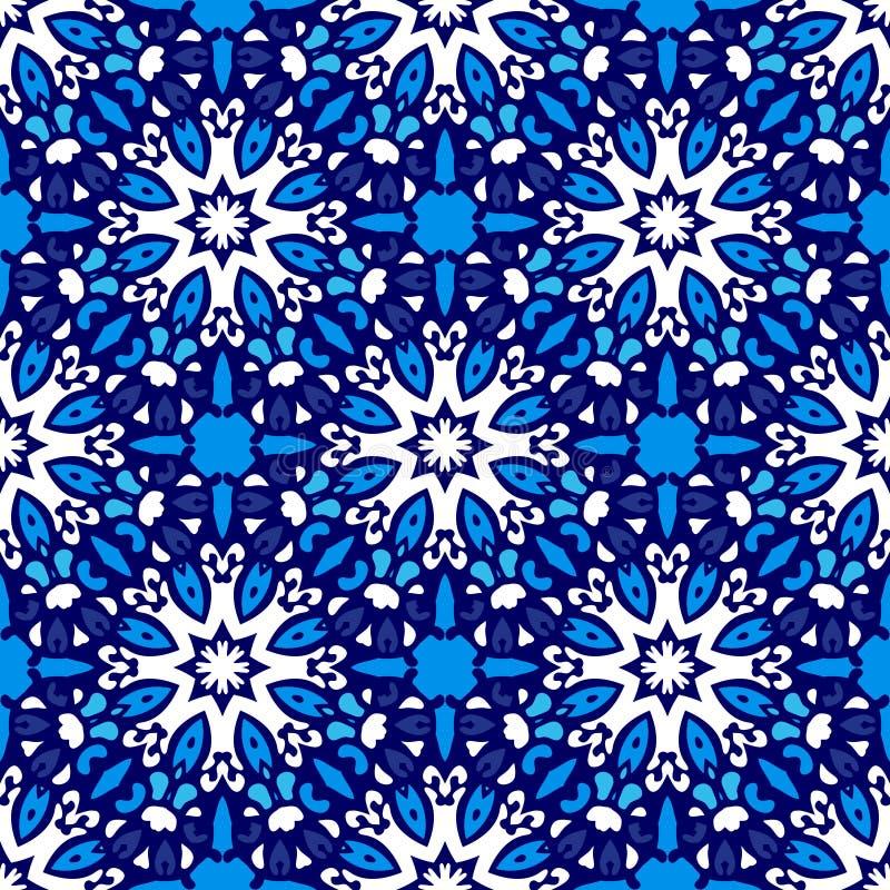 Abstract naadloos sier vectorpatroon royalty-vrije illustratie